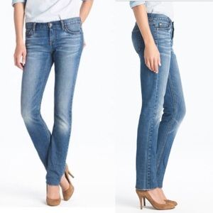 J. Crew Matchstick Straight Jeans In Light Wash